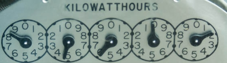 Electro-Mechanical Meter with Dials